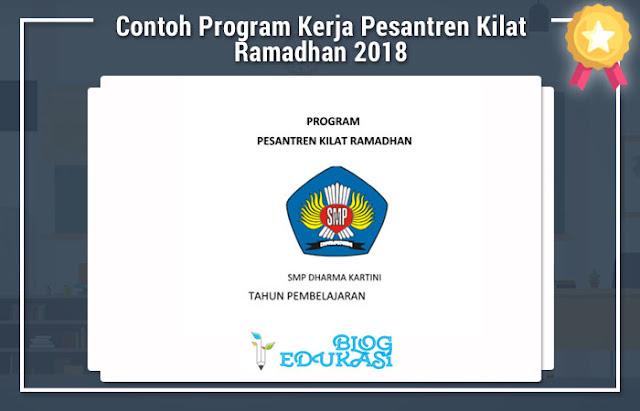 Contoh Program Kerja Pesantren Kilat Ramadhan 2018