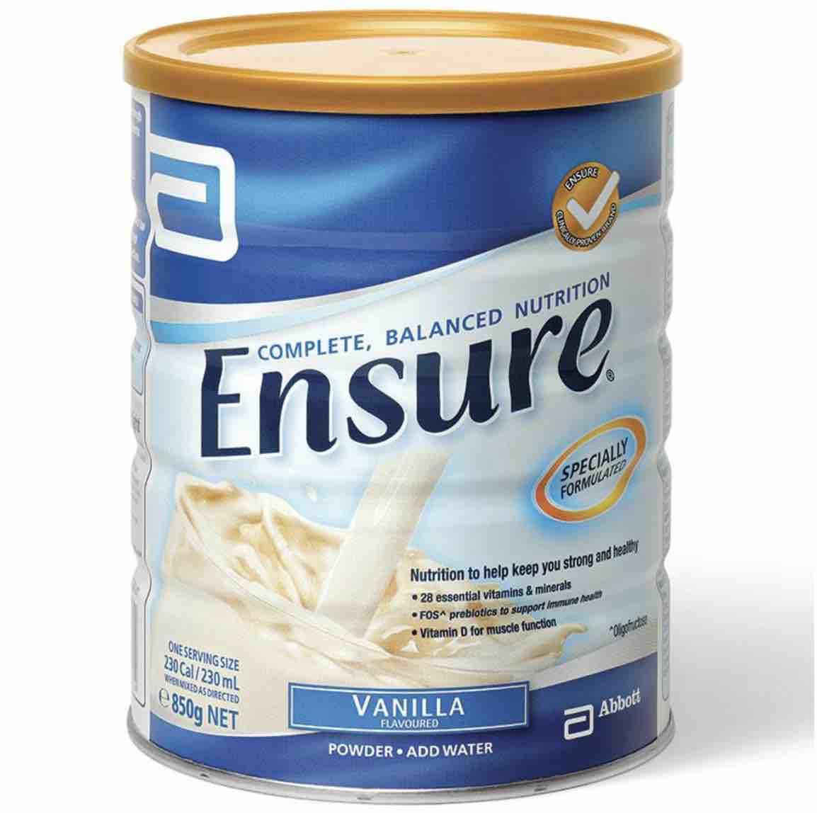 Ensure Vanilla 850g - Sửa bột giàu dinh dưỡng xuất xứ Úc