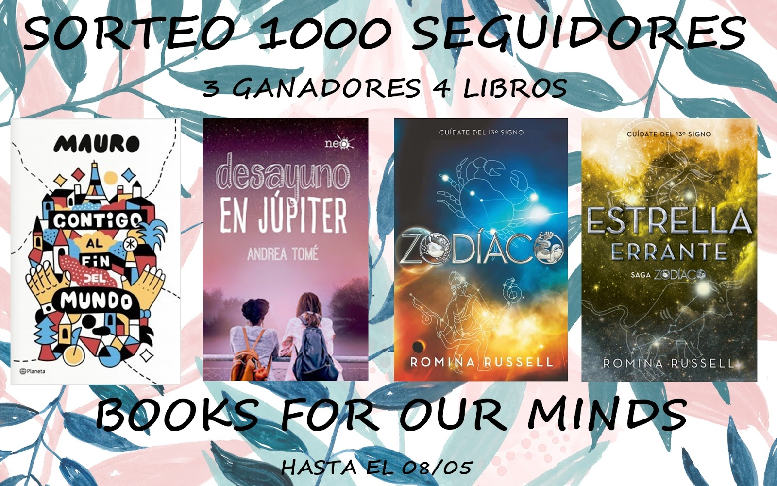 Sorteo Books for our minds