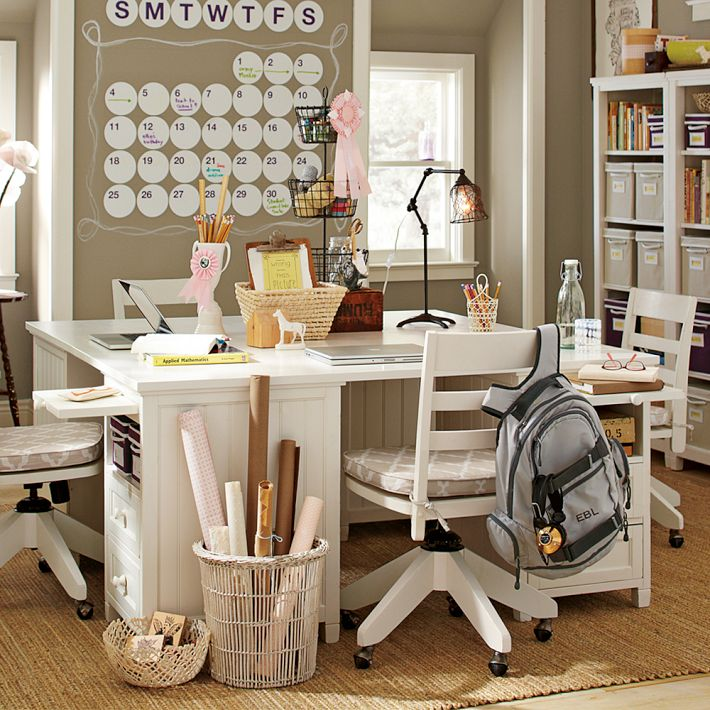 Study Room Design Ideas: It's Written On The Wall: Do You Have A Homework Station