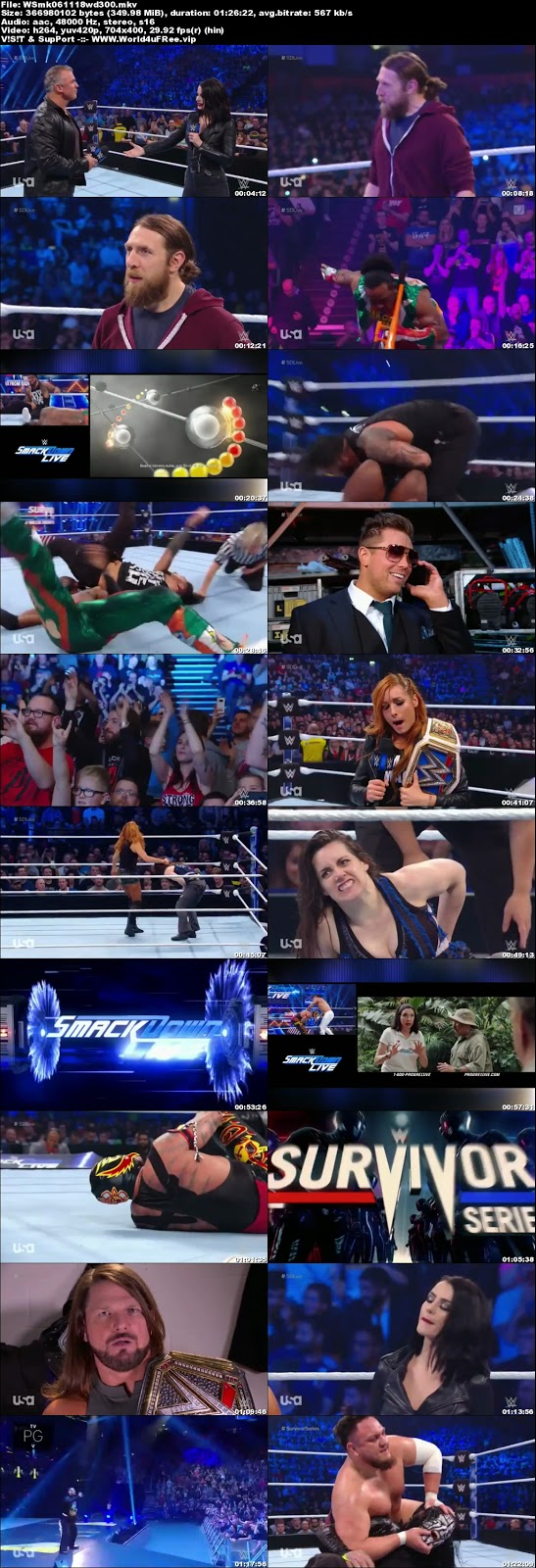WWE Smackdown Live 06 NOVEMBER 2018 HDTV 480p 350MB x264tv show wweWWE Smackdown Live 30 OCTOBER 2018 HDTV 480p 300MB x264 compressed small size free download or watch online at world4ufree.fun