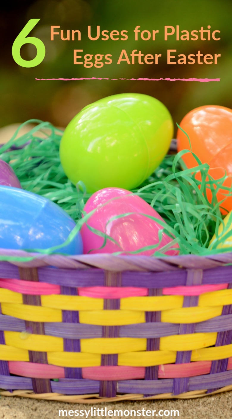 Plastic egg activities for kids. 6 Fun Uses for Plastic Eggs After Easter.