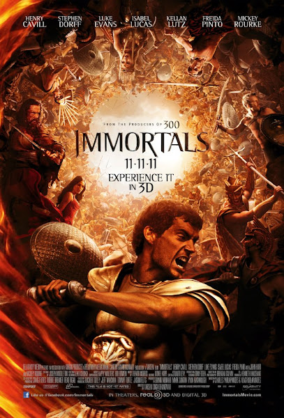 Poster of Immortals 2011 Dual Audio [Hindi-English]  720p BluRay WIth ESubs Download