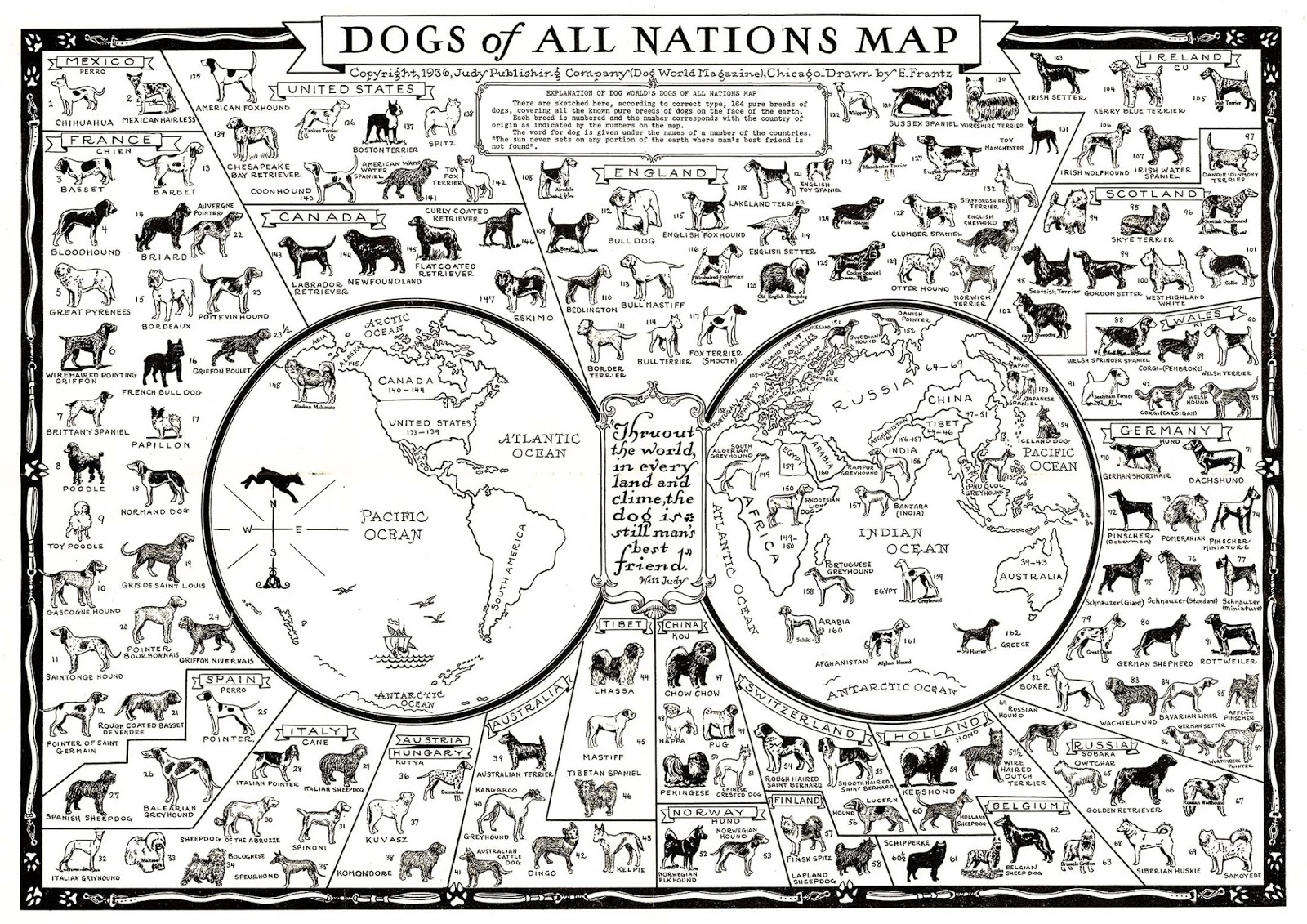 Dogs of all nations map