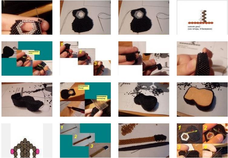 broche, guitarras, miniaturas, diys, manualidades, bisutería