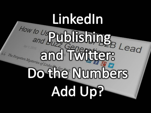 The Shocking Truth About Tweets and LinkedIn Publications.