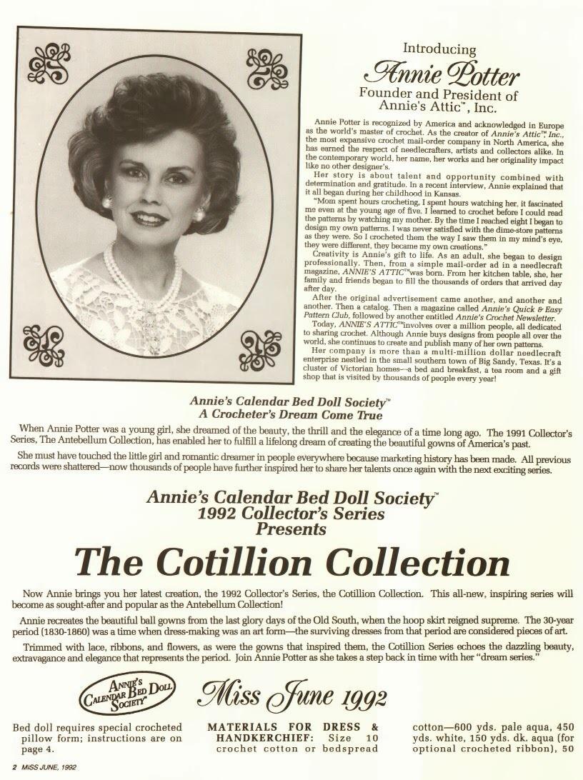 Vestido de Crochê Para Barbie The Cotillion Collection Miss junho 1992