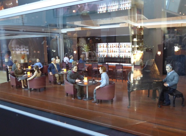 Hotel bar set Anomalisa stop-motion exhibit