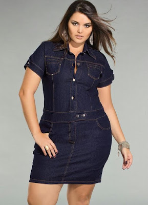 Vestidos de jeans y tela