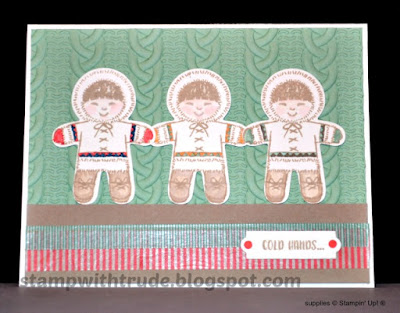 cookie cutter Christmas, Stampin' Up!, Stamp with Trude, Tuesday Tutorial, Christmas Card