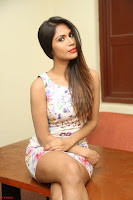 Nishi Ganda stunning cute in Flower Print short dress at Tick Tack Movie Press Meet March 2017 010.JPG