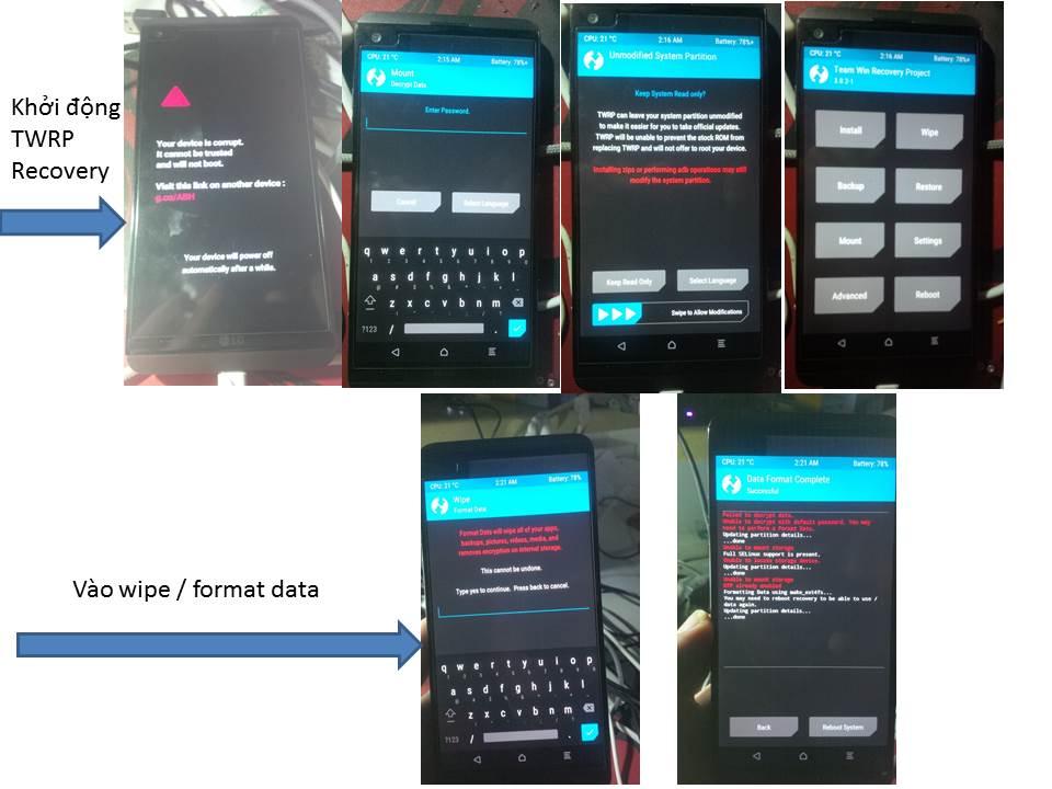 Hướng dẫn] Root - Unlock BootLoader - Cài TWRP Recovery LG