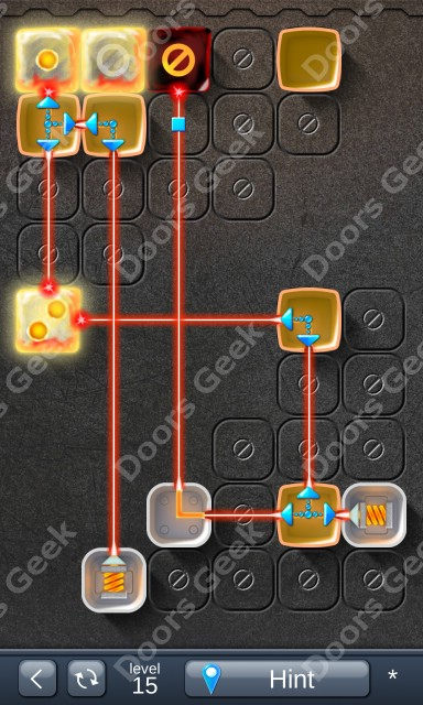 Solution for Laser Box - Puzzle (Basic) Level 15