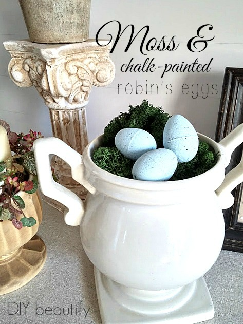 Chalk painted Robin's Eggs DIY beautify