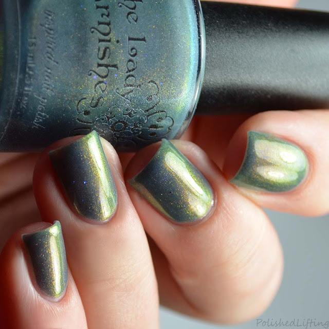 blue nail polish with color shifting shimmer