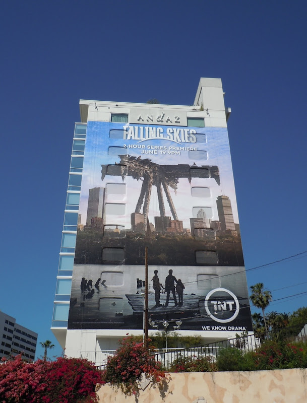 Giant Falling Skies TV billboard