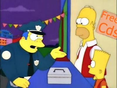 """Enfermito de los simpson pidiendo un """"guiño"""""""