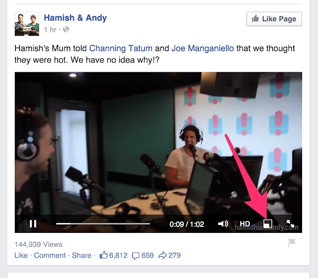 Facebook New Feature: Floating Video