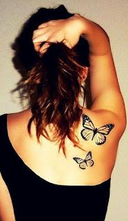 Czarne motylki