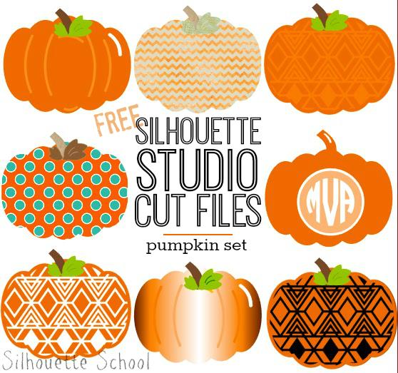 Silhouette Studio, free cut file, pumpkin