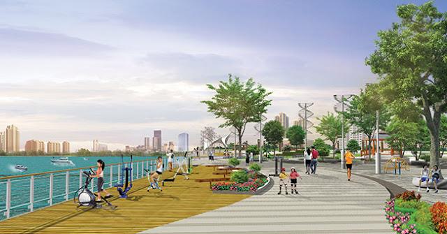 Không gian xanh tại đô thị Riverside