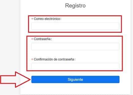 formulario de registro en KuCoin