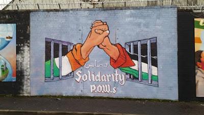 Mural Palestina en Belfast
