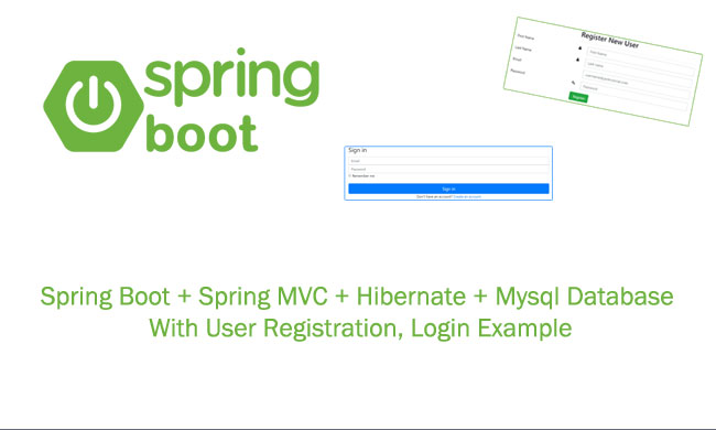 Spring Boot Tutorial Spring MVC Registration, Login Example using
