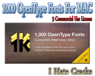 1000 OpenType Fonts For MAC Free Download With 5 Commercial Use License