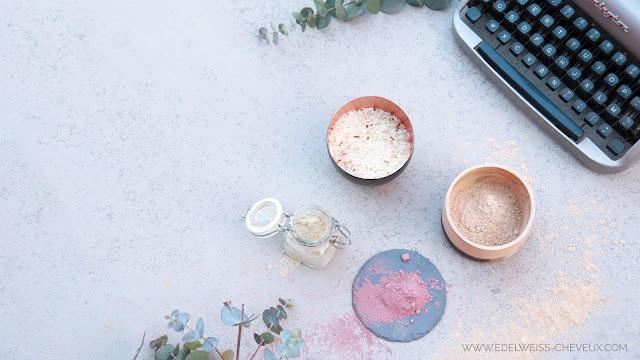 soins naturels pour de beaux cheveux poudres ayurvediques guimauve rose
