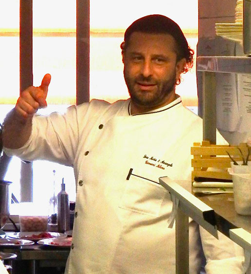 Giovanni Milana, chef and owner of Sora Maria e Arcangelo in Olevano Romano
