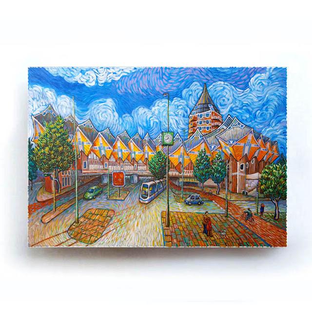 Rotterdam Kubushuizen Like Van Gogh