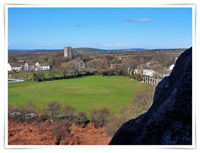 The view from the top of Roche Rock, Cornwall
