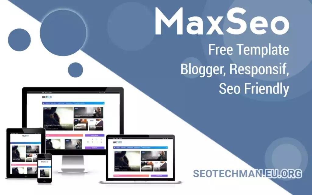 [Download] Template Blogger MaxSeo, Gratis, Responsif, dan Seo Friendly