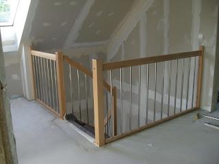 christian susi bauen ein haus mit danwood die treppe. Black Bedroom Furniture Sets. Home Design Ideas