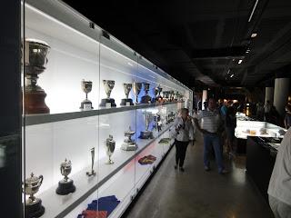 De prijzenkast van Barcelona in Camp Nou