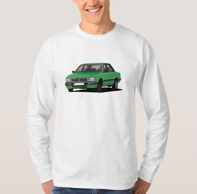 Peugeot 505 GTi in green - Shirt