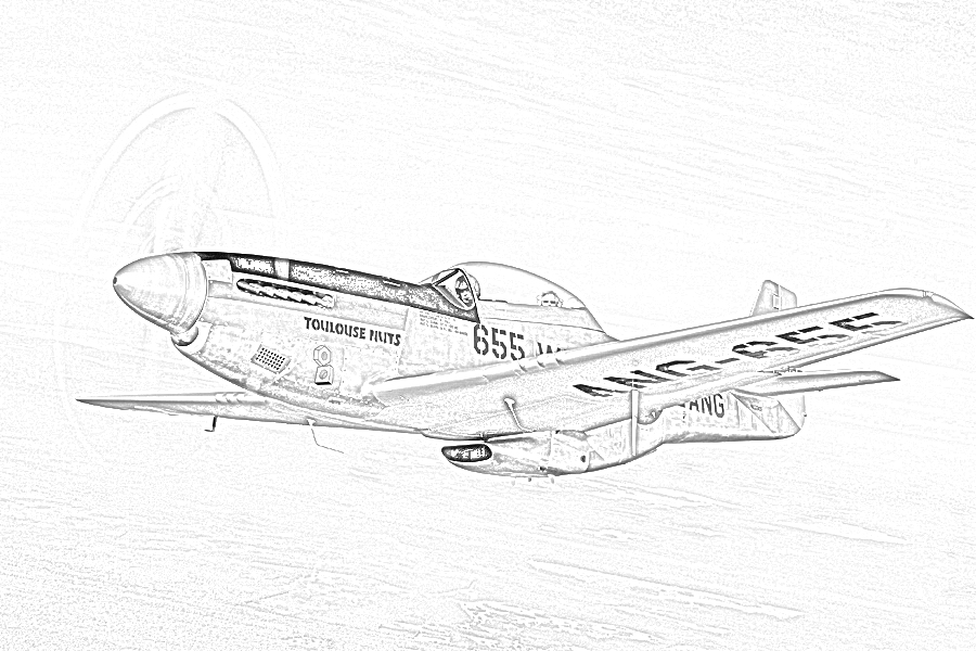 World War II In Pictures Fighter Coloring Pages