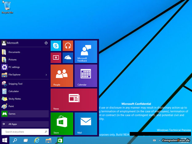 menu iniciar windows 9