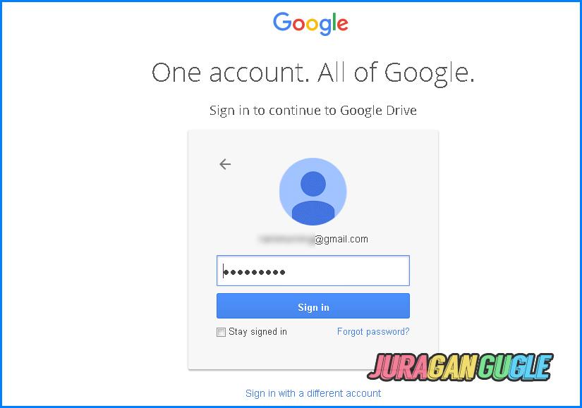 masuk ke google akun