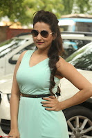 Manjusha in beautiful thin green gown At Jaya Janaki Nayaka le Logo Launch ~  Exclusive 103.JPG