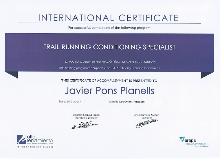 INTERNATIONAL CERTIFICATE TRAIL RUNNING CONDITIONING SPECIALIST