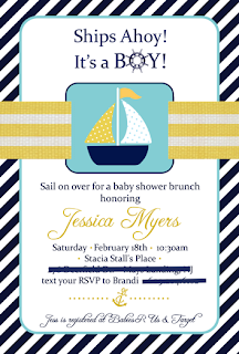 Ship's Ahoy- She's Having a Boy!