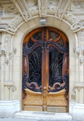 Desert Rose Door Refinishing A Door In Paris Art Nouveau