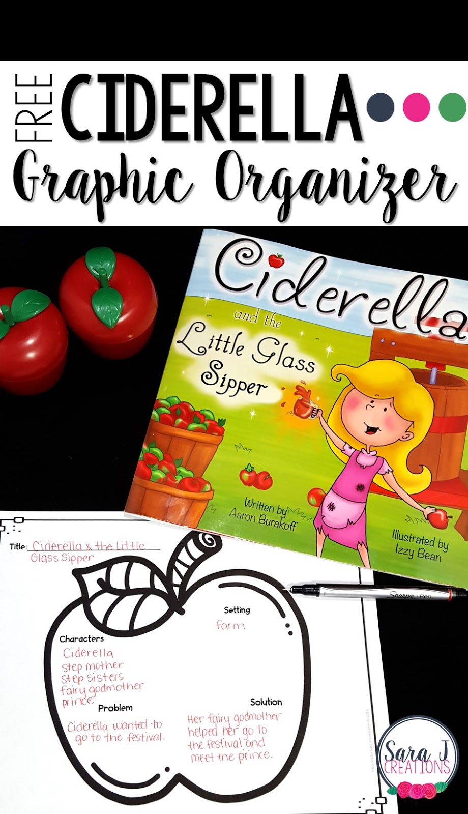 Ciderella is a cute addition to your Cinderella book collection.  It is also perfect for apple season and all the fun classroom activities that go with it.  Grab your free printables now.