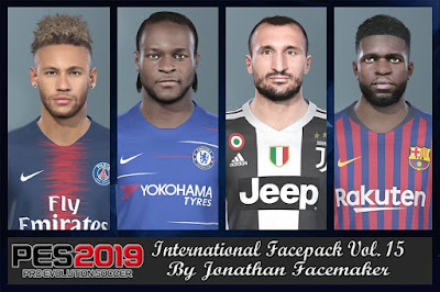 PES 2019 Facepack International vol 15 by Jonathan Facemaker