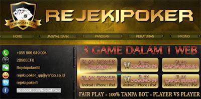 RezekiPoker.com Situs Agen Poker Domino dan Capsa Susun Online Terpercaya Indonesia
