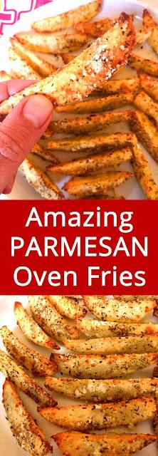 Oven Baked Garlic Parmesan Potato French Fries Recipe