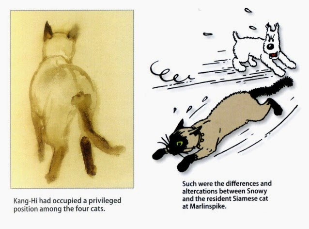 গল্পঘর (Story Room): Cats and Dogs in (optimistic) Herge's Life