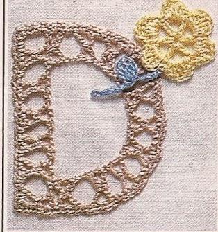 Letra D a Crochet